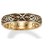 'Yovrs Onli' 14k Yellow Gold Poesy Ring