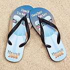 Personalized Hawaiian Wedding Dress Beacher Sandals