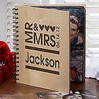 Personalized Mr. and Mrs. Wedding Photo Album