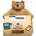 Personalized Bear Business Card Holder for Dermatologist