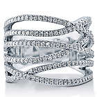 Swarovski Pure Brilliance CZ Silver Multi-Strand Woven Ring