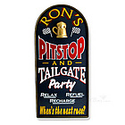 Racing Pit Stop and Tailgate Party Personalized Sign