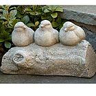 Three's A Crowd Bird Garden Statue
