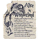 Alice in Wonderland Storybook Blanket