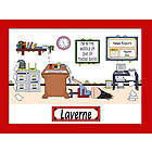 Personalized Administrative Assistant Cartoon