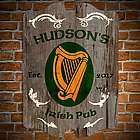 Celtic Harp Personalized Bar Sign