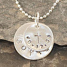 Very Special Date Personalized Hand Stamped Necklace