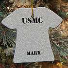 Personalized Ceramic Marine Corps Ornament