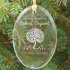 Engraved In Loving Memory Tree of Life Glass Ornament