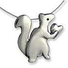 Love Nut Squirrel Necklace