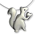 Love Nut Squirrel Necklace