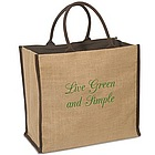 Brown Eco Jute Tote Bag
