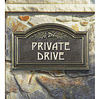 Private Drive Wall Plaque