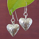 'In My Heart' Silver Heart Earrings
