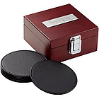 Leather Coaster Wooden Box Set
