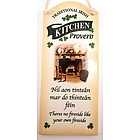 Irish Kitchen Proverb Wall Plaque