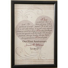 Personalized Small Love Is Patient Canvas Wall Art