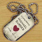 Personalized Heart Memorial Dog Tag