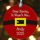 Santa's Belt Personalized Christmas Ornament