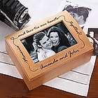 Personalized Wooden Photo Keepsake Box
