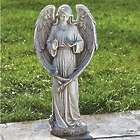 Angel with 2 Birds Garden Statue