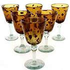 Tortoise Shell Wine Glasses