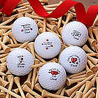 Personalized Loving Hearts Callaway Golf Ball Set