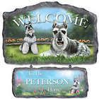 Lovable Schnauzers Personalized Welcome Sign