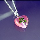 4-Leaf Clover Heart in Pink
