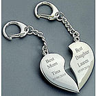 Mother Daughter Heart to Heart Split Keychain