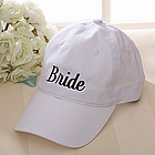 Personalized Our Wedding Party Baseball Cap in White