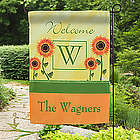 Personalized Summer Sunflowers Garden Flag