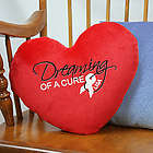 Find A Cure Heart Personalized Throw Pillow