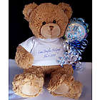 Personalized New Baby Boy or Girl Bear with Balloon