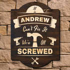 Tried and True Craftsman Personalized Wood Sign