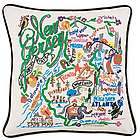 Hand Embroidered New Jersey State Pillow