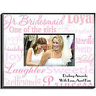Personalized Junior Bridesmaid Frame in Shades of Pink