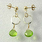 Peridot Sterling Silver and Gold Fill Earrings