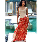 Orange Bamboo Paradise Cotton Sarong