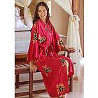 Women's Hibiscus Red Batik Robe