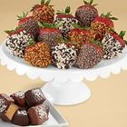 Sea Salted Caramels with Dozen Dipped Strawberries
