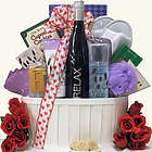 Riesling Wine and Spa Gift Basket with Heart Bow
