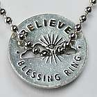 Believe Blessing Pewter Charm