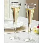 Trumpet Personalized Wedding Toasting Flutes