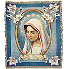 Ave Maria Tapestry Throw