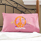 Girl's Personalized Peace Sign Pillowcase