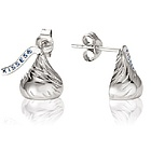 Authentic Hershey's Kiss Earrings in Sterling Silver