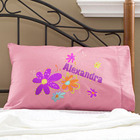 Girl's Flower Power Personalized Pillowcase