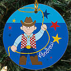 Cowboy Personalized Ceramic Ornament