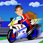Your Photo in a Motorcycle Racer Caricature